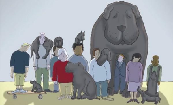 「僕は黒い犬を飼っている」 鬱病患者の気持ちを絵本にした動画が話題