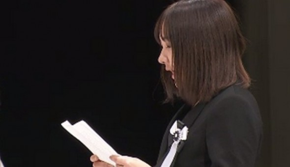 【全文】「行かないで」瓦礫の下に母親を残し… 菅原彩加さんによる遺族代表スピーチ