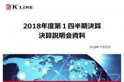川崎汽船、1Q経常損益は171億円の赤字 コンテナ船事業コスト悪化も通期予想変更なし