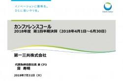 第一三共、1Q売上収益は前年比134億円減 「キザルチニブ」はグローバルで承認申請予定