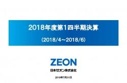 日本ゼオン、1Qは増収減益で着地 業績予想は公表値を据え置き