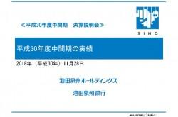 池田泉州HD、上期純利益は当初計画値並 将来に向けた体質強化期間を継続