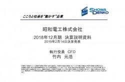 昭和電工、営業益は前期比131.6%増で、2年連続最高益を更新 今期の年間配当予想は10円増の130円