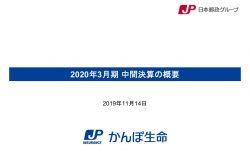 かんぽ生命保険、19年7月以降のかんぽ商品の積極的な提案の停止により、通期業績予想は下方修正
